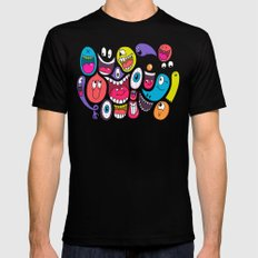 Friendly Faces MEDIUM Mens Fitted Tee Black