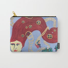 Lady Galaxy's Hair Home with Strawberry Moons Carry-All Pouch