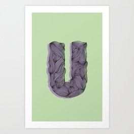"""""""U"""" Doodle Art Print"""