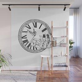 Skeleton Hand Clock Wall Mural