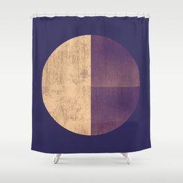 Black and Gold Circle 42 Shower Curtain