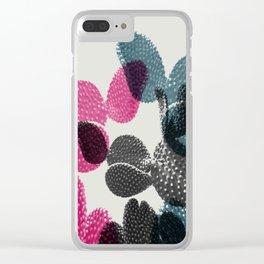 Tri-color cactus Clear iPhone Case