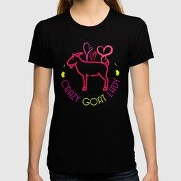 Crazy Goat Lady Funny Animal Farmer Ranch Farming Design T-shirt