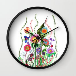 FLOWERS IN MEXICO Wall Clock