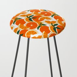 Orange Harvest - White Counter Stool