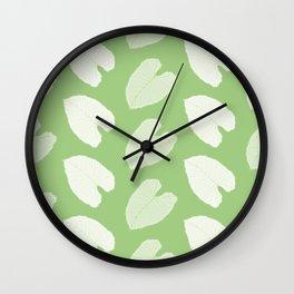 Elephant Ear Plant Leaf Pattern Wall Clock