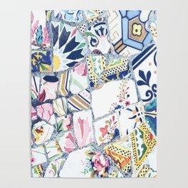 Gaudi Park Guell Mosaic Poster