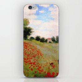 POPPIES - CLAUDE MONET iPhone Skin
