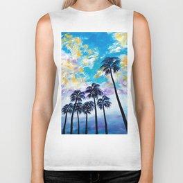 Oceanside Palm Trees Biker Tank