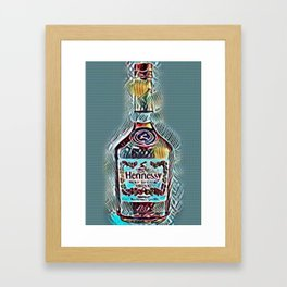 Henny Blue Edition Framed Art Print