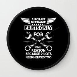 Aircraft Mechanic Aviation Gift Wall Clock
