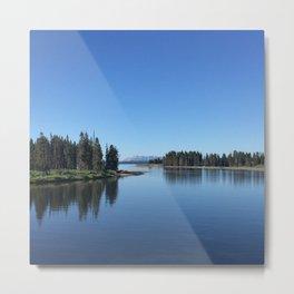 Blue Reflection Metal Print