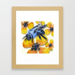 Carpenter Bee Blooms Framed Art Print