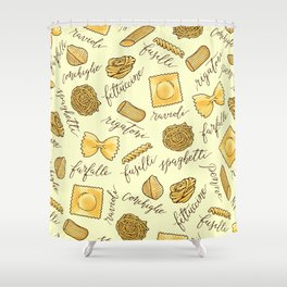 Know Your Pasta Shower Curtain