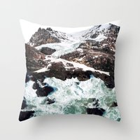 Sea and Mountains Throw Pillow
