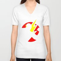 the flash V-neck T-shirts featuring Flash by Sport_Designs