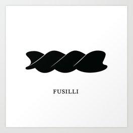 Pasta Series: Fusilli Art Print