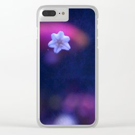 Tiny White Starfish Clear iPhone Case