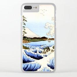Sea and waves at Satta  Suruga Hiroshige Clear iPhone Case