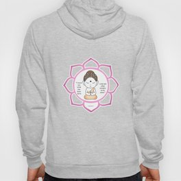 Cute little Buddha in a lotus flower Hoody