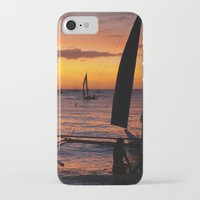 philippines iPhone & iPod Cases featuring Borocay Sunset Philippines by brokentoph