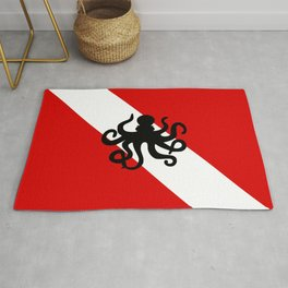 Diving Flag: Octopus Rug