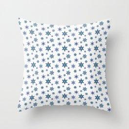 Snowflakes on a white background. Throw Pillow