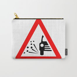 Stone Chipping Traffic Sign Isolated Carry-All Pouch