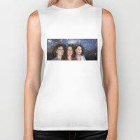 casablanca Biker Tanks featuring THE THREE GREAT LADIES by Kaitlin Smith