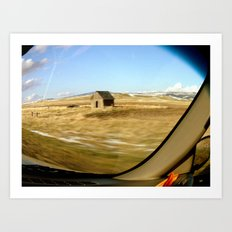 Snap Shot Out The Car Window Art Print