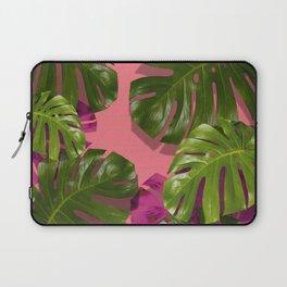 """Tropical monstera polka dots pastel pink"" Laptop Sleeve"