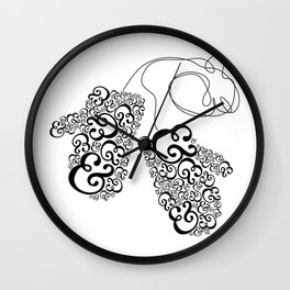 Ampersand Mittens Wall Clock