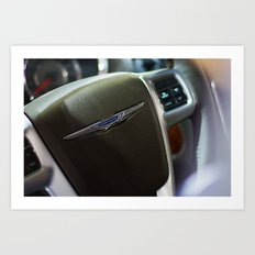 Chrysler Town & Country Limited Steering Wheel Art Print
