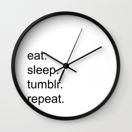 Tumblr. Wall Clock