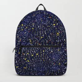 Art Deco Royal Blue Gold Christmas Pattern Backpack