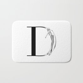 Mermaid Alphabet Series - D Bath Mat