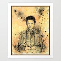 sherlock holmes Art Prints featuring Sherlock Holmes by CHRIS MASON