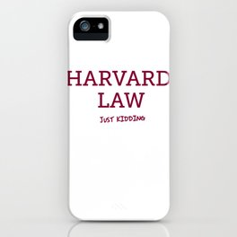 Harvard Law iPhone Case