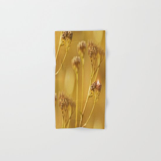 Autumn wildflowers in forest Hand & Bath Towel