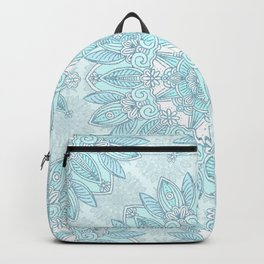 Icy blue mandala Backpack