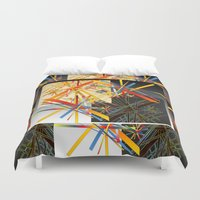 fireworks Duvet Covers featuring Fireworks by MZ Designs