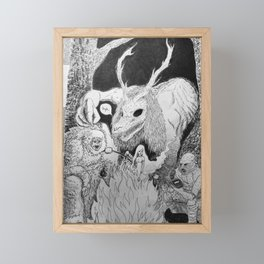 Scary Stories Framed Mini Art Print