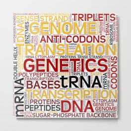 MOLECULAR BIOLOGY - Protein Synthesis Metal Print