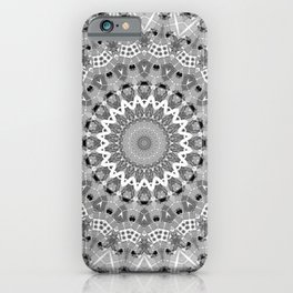 Black and white mandal iPhone Case