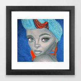 A Beautiful Queen Framed Art Print