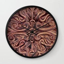 Rosette Medallion Wall Clock