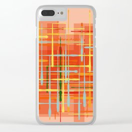 Abstract Orange Terminal Clear iPhone Case