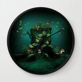 Wizard Stump Wall Clock