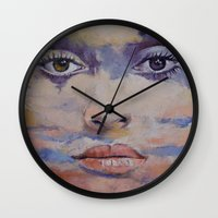 mona lisa Wall Clocks featuring Mona Lisa by Michael Creese