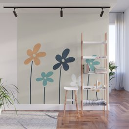 Abstract Flowers 2 Wall Mural